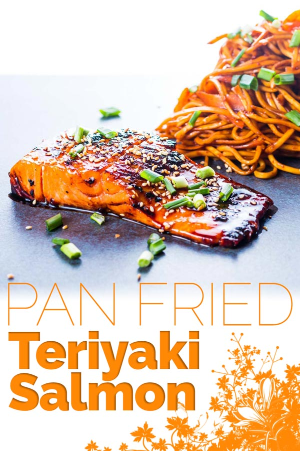 Pan fried Teriyaki Salmon is one of the most delightful and simple dishes you could ever cook, the wonderful sauce is the perfect match for the rich fish. #fish #salmon #fishsuper #dinnerfortwo #teriyakisauce #recipe #recipeoftheday #recipeideas