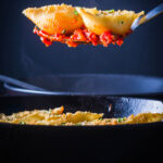 Skillet Goats Cheese Stuffed Pasta Shells