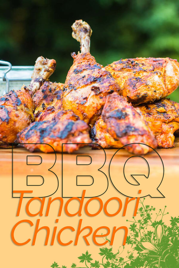 The BBQ is the perfect place to cook a Tandoori Chicken unless you count a Tandoor of course, take your fake away to the next level! #indianfood #tandoorichicken