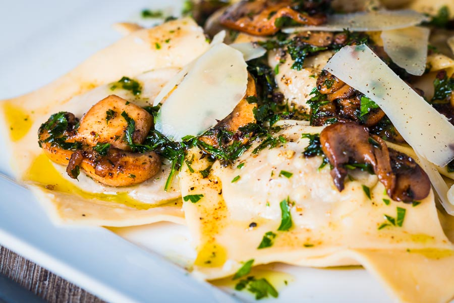A grown up Balsamic Mushroom Ravioli that is well worth the effort to make for those of you that love Garlic and Mushrooms!
