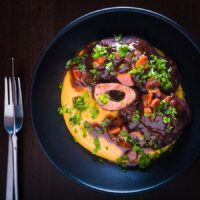 Instant Pot Beef 'Osso Bucco' with Polenta