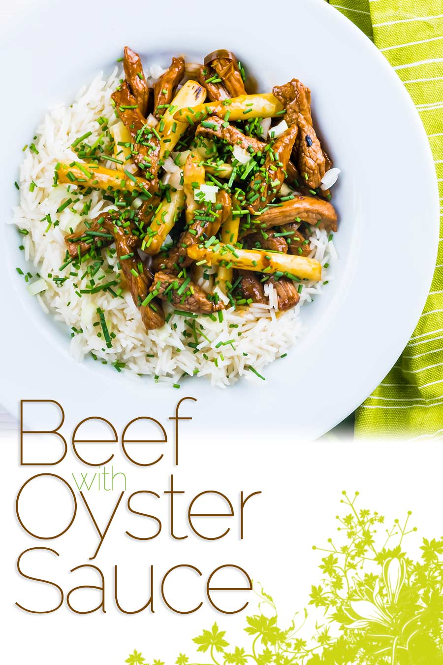 Beef with oyster sauce is an ever-green takeaway favourite, my fakeaway version is ready in just 20 minutes and features wonderful white asparagus! #beef #stirfry #asparagus #quickdinners #fastrecipes #beefrecipes #recipeideas #recipeoftheday #recipes