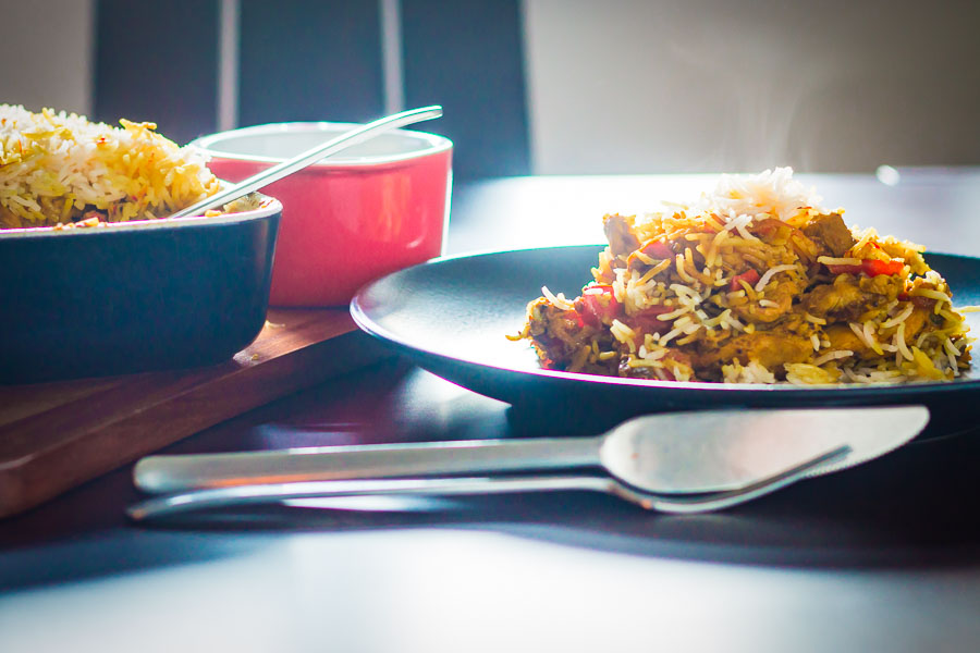 Like all good Biriyani my Chicken Biriyani is a labour of love, set aside a couple of hours and revel in the rich and deep Indian Spices.