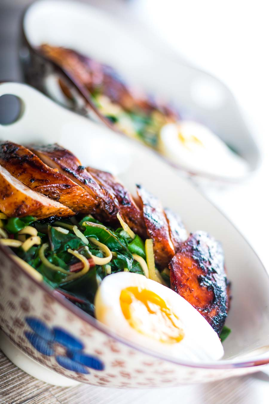 This dish is a bit of an homage to Wagamama a place I liked for quick and simple food in the UK, an Asian inspired Hoisin Chicken Noodle Soup.