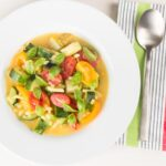 Soup is not just for winter this summer minestrone soup is a simple celebration of fresh and bright summer produce and is a great summer meal!