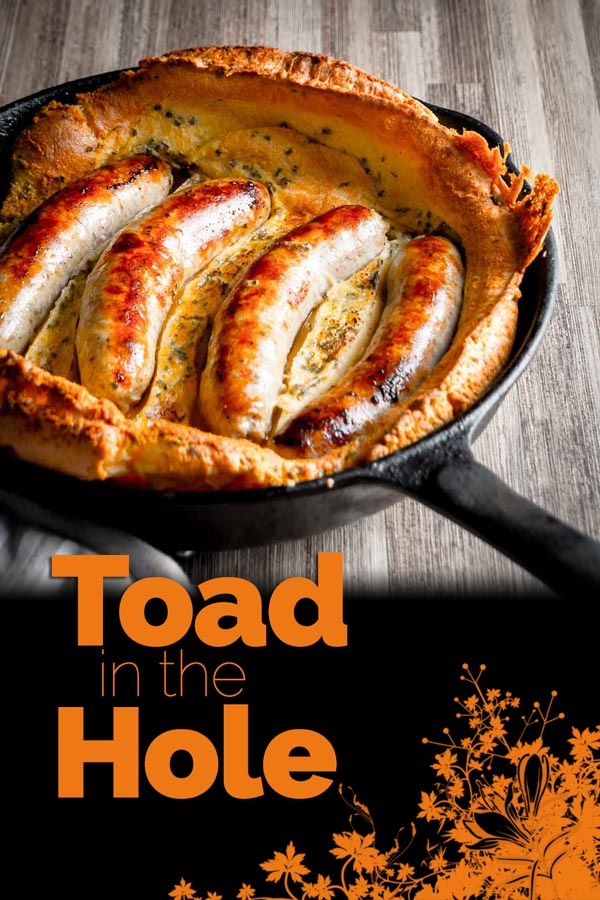 Toad in the Hole is about as British as can be, sausages in a Yorkshire pudding batter and baked to perfection, forget Sunday lunches this is quintessentially British! #bangers #britishfood #recipe #traditionalbritishfood #britishrecipes #recipeideas #recipeoftheday