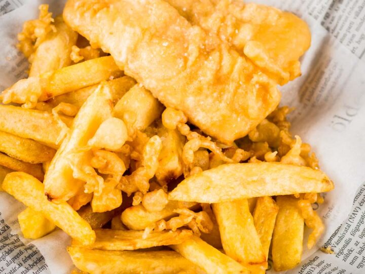 Chip Shop Chips With Battered Fish Krumpli