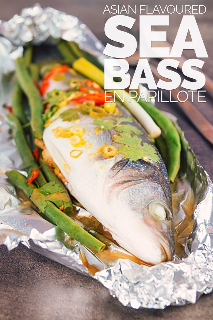 This Asian Fish En Papillote features a classic French technique with bright and vibrant Asian flavours, you cannot beat a whole sea bass cooked on the bone #fishrecipes #fishonthebone #fishsupper #seabass #recipe #recipeideas #recipeoftheday