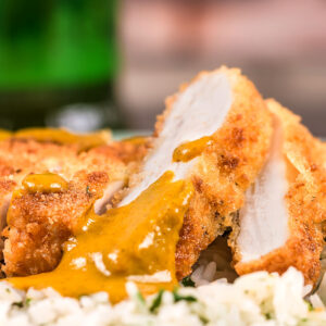 Katsu curry is considered to be a national dish in Japan, my chicken katsu curry comes with a perfectly fried chicken breast and a wonderful curry sauce.
