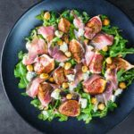 Figs are a gloriously diverse ingredient, my favourite way to eat them is in a roasted fig salad paired with wonderful blue cheese and hazelnuts!