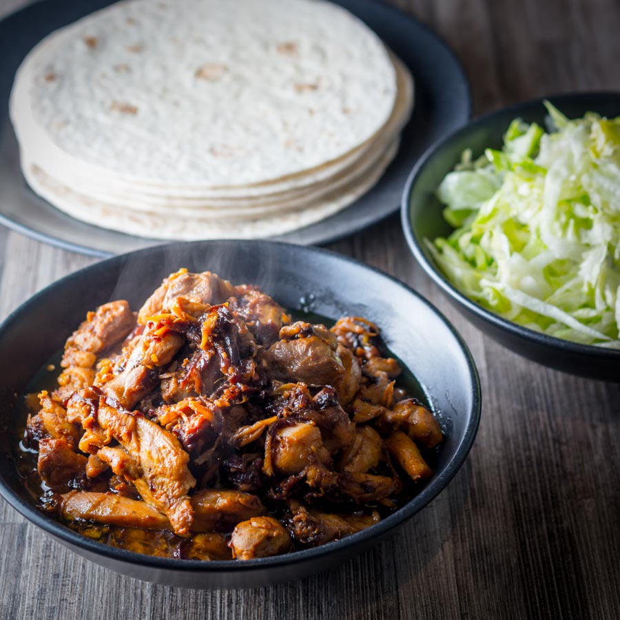 Chicken Pickle or Achari Chicken is an Indian Street food typically served in a Paratha heady with garlic and ginger and a wonderful astringent backnote.