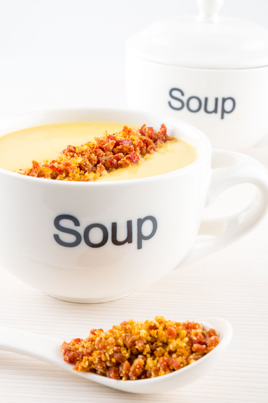 A Cream of Celeriac Soup as a perfect winter staple, packing loads of almost nutty 'celery' flavour and silky smooth with a fun crunchy topping.