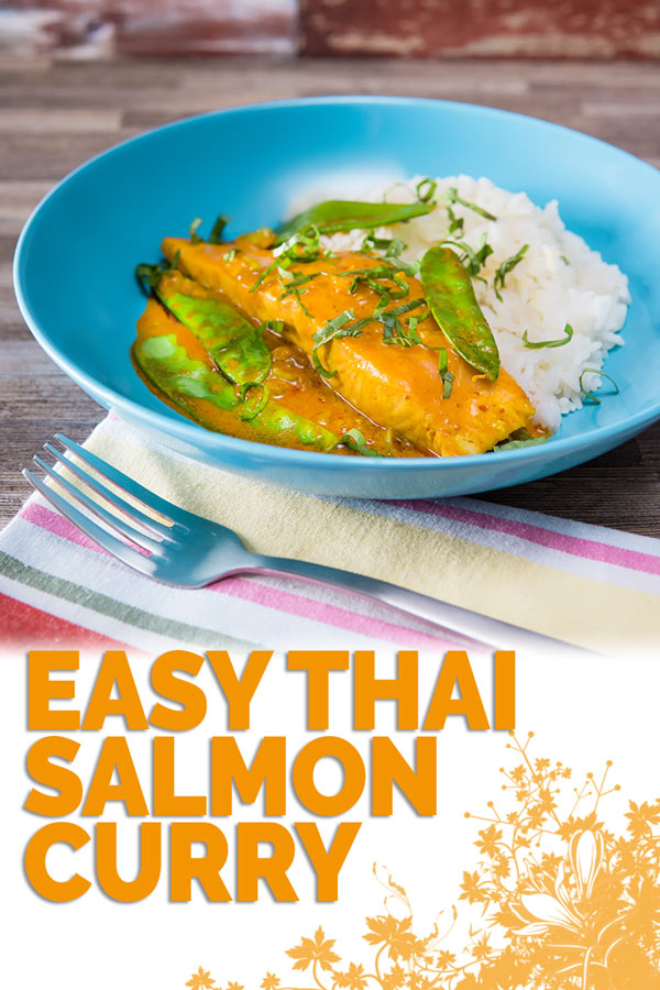 At 20 minutes from start to finish this easy Thai salmon curry is a fantastic midweek dinner that even the most rushed of families can manage! #salomnrecipe #fishrecipes #quickfishrecipes #quicksalmonrecipes #easysalmonrecipe #ishcurry #recipeideas #recipeoftheday #recipes