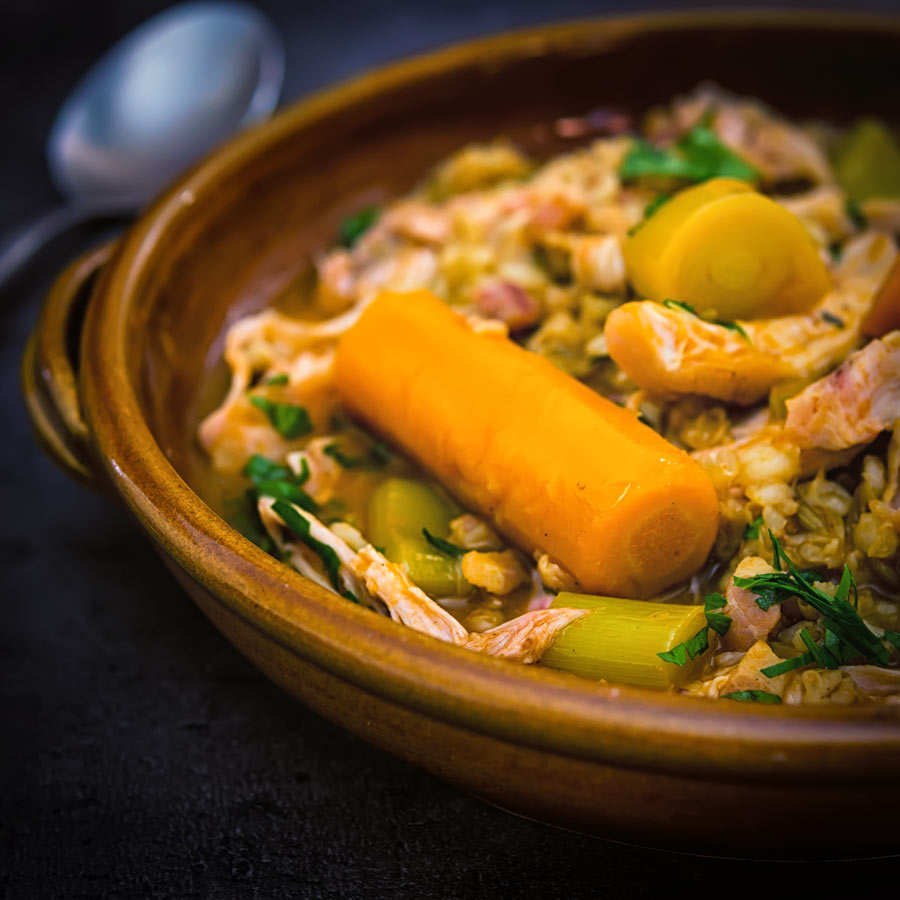 A good rabbit stew is as old school as it gets this one is delightfully frugal, packed with flavour and features the much-underused pearl barley.