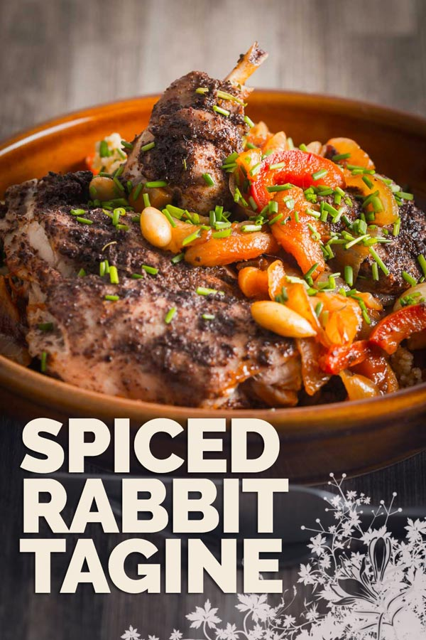 Rabbit is a beautifully lean and sustainable meat and this North African style spiced rabbit tagine is simple quick and wonderfully exotic.