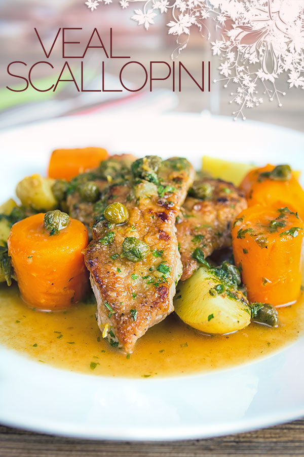 This easy Veal scallopini takes a wonderful piece of veal escalope and combines it with a vibrant wine, caper and lemon sauce to create a delicious simple meal! #Italianfood #Italianrecipes #veal #vealrecipes #Piccata #Scallopini #recipe #recipeideas #recipeoftheday