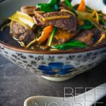 Simple ingredients get an Asian twist in this Chinese and Taiwanese influenced beef noodle soup, super quick to make and full of big flavours!