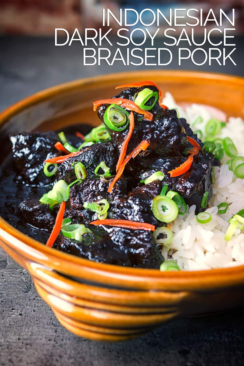 Known as Babi Chin this Indonesian braised pork is cooked in a dark soy sauce based stock and is rich, sweet and full of wonderful aromatic flavours and not only fills your belly but makes your house smell amazing! #stew #porkrecipes #porkstew #soysaucerecipemeat #dinnersfortwo #braisedporkshoulder