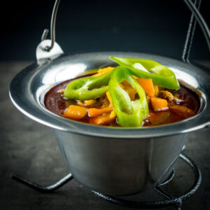 A 'traditional' and authentic Hungarian goulash or Gulyásleves is not the thick stew most people believe but it is rather a glorious and simple soup!