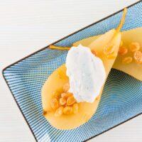 Tokaj Poached Pear With Chantilly Cream