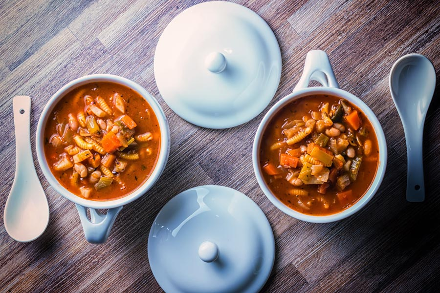 I have many minestrone soup recipes but this is my favourite end of the year version packed with seasonal vegetables, beans and pasta.