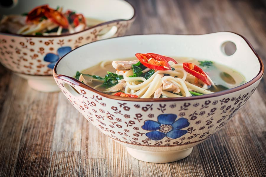 Nothing could be simpler than this Asian Style Leftover Chicken Soup made with leftover roast chicken and a host of Asian flavours and a punch of chili!