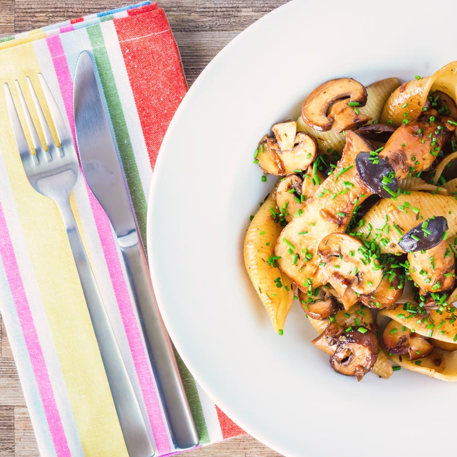 Mushrooms lend themselves so well to pasta dishes and this balsamic mushroom pasta is enriched with butter and Balsamic vinegar.