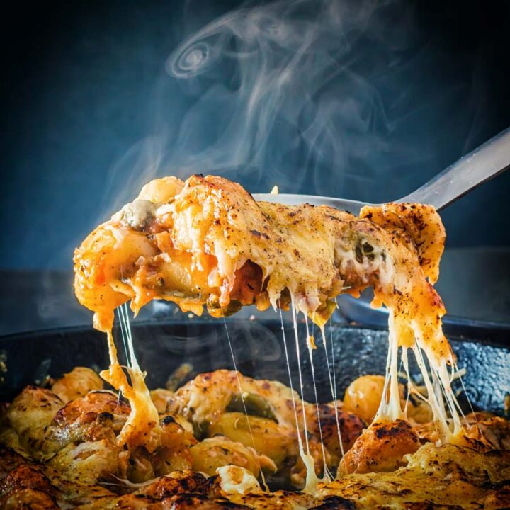 This cheesy Cheesy Gnocchi Bake is the perfect simple home cooked meal, a zingy tomato sauce and lots of melted cheese, what's not to love?