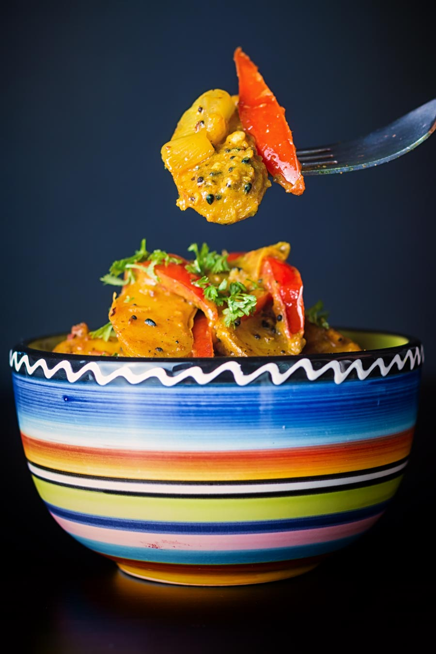 This fingerling potato curry combines my favourite Indian flavours with my favourite garden ingredients at this time of year.