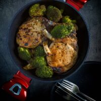 Honey Mustard Pork Chops With Parsnip and Broccoli