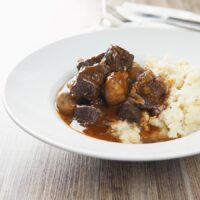 Instant Pot Beef Bourguignon with Celeriac Mash