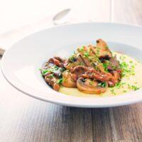Mushroom Ragu With Cheesy Polenta