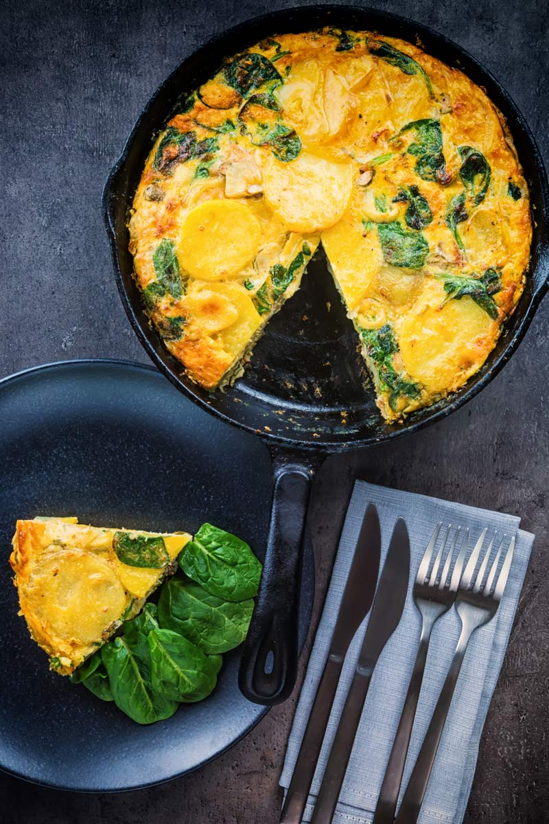Call it what you will, potato frittata, Spanish omelette, tortilla española or even tortilla de patatas you still have a great base for the most simple and frugal of meals, this one uses smoked trout and capers to push it over the edge!