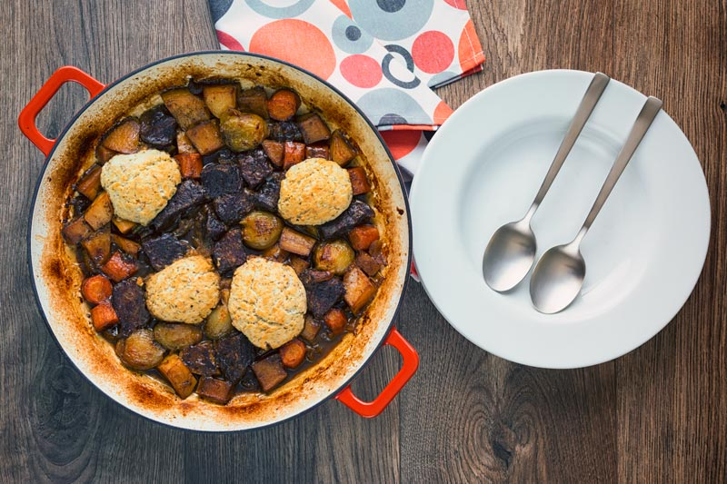 Nothing says winter to me quite like a hearty Beef Stew with obligatory suet dumplings to soak up the gravy that is loaded with dark beer!