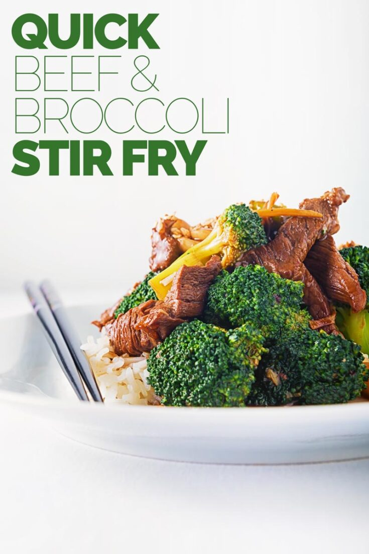Beef and Broccoli Stir Fry is one of the most popular takeaway dishes, my version uses all of the broccoli and is super quick perfect for a Friday night dinner.  #beefstirfry #chinese