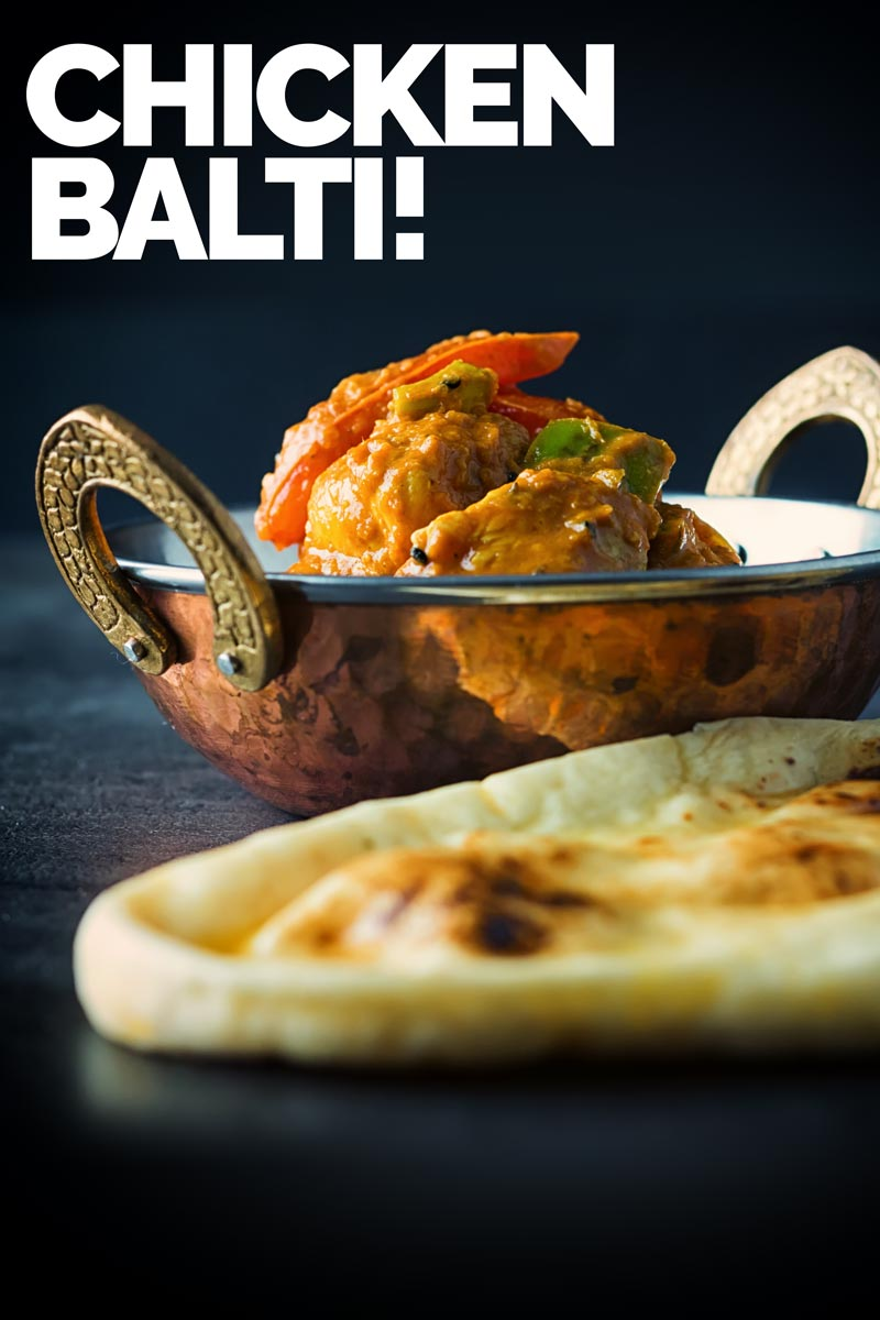 Chicken Balti is the pride of Birmingham and a curry not of Indian but Anglo Indian heritage dating from the late 1970's and went global! A great flavoured curry knocked back with a spoon full of yogurt, perfect for any curry lover. #balti #baltirecipe