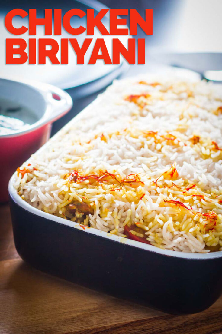 Like all good Biriyani my Chicken Biriyani or biryani is a labour of love, set aside a couple of hours and revel in the rich and deep Indian Spices and the chefs perk's while you while-away the time in the kitchen. #indianfood #indanrecipes #curry #spicy #stepbystepchickenbiriyani #indianricerecipes