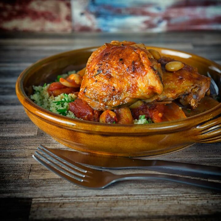 Chicken Tagine With Dried Apricots and Almonds