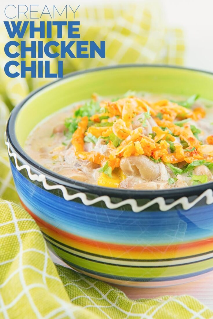 I've long been intrigued by the idea of a creamy white chicken chili, so I went ahead and worked on my own version of this unusual spicy treat! Its slow cooked, so 15mins of prep and your done in the kitchen until it's time to serve the family #chickenthighrecipe #slowcookedchicken #spicyrecipes #easychilirecipes