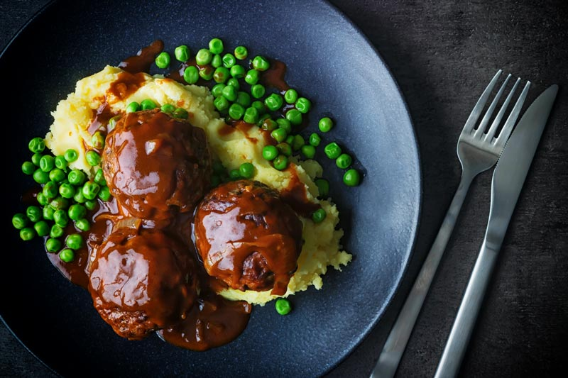 Faggots and Mash were the meatballs I grew up in the UK they have sadly fallen out of favour but these old skool classics are still my favourite