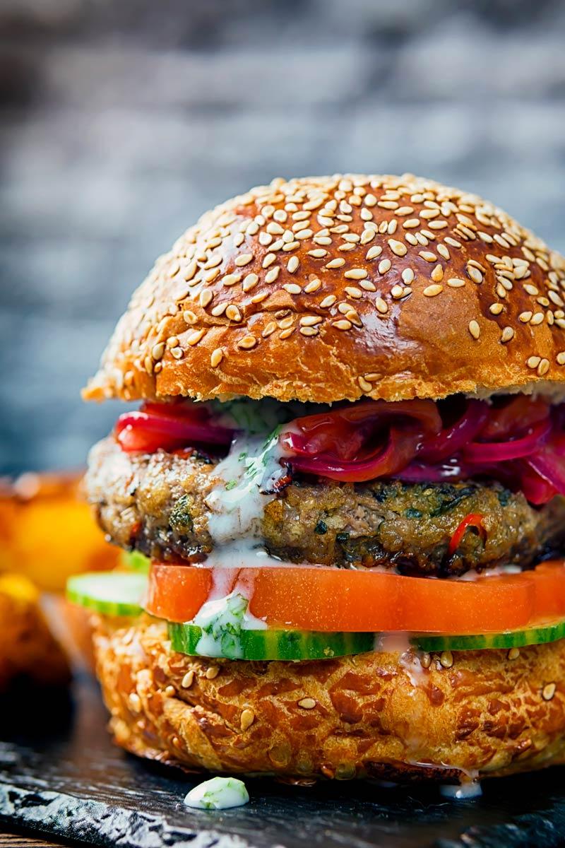 Indian Lamb Burger | Krumpli