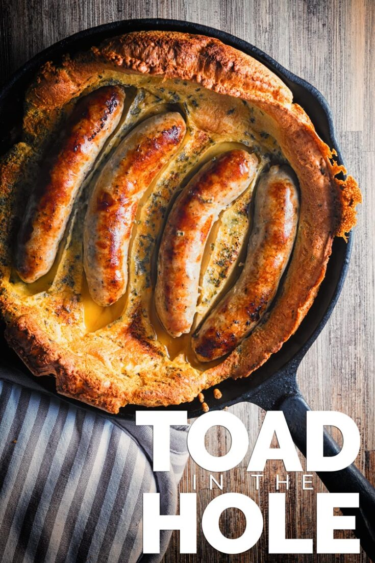 Toad in the Hole is about as British as can be, sausages in a Yorkshire pudding batter and baked to perfection, forget Sunday lunches this is quintessentially British!  #easyyorkshirepuddingrecipe #traditionalbritishfood