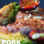 This Chinese pork tenderloin is a sideways glance at the idea of pork and plum sauce but we play with some seared plums and Chinese five spice.
