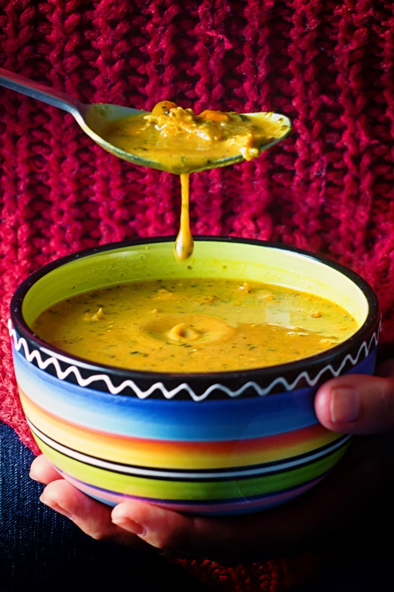 Dating back to the time of the Raj a Mulligatawny Soup is an Anglo Indian take on a traditional Rasam and it tastes incredible!