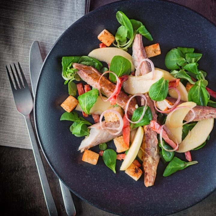 Smoked Mackerel Salad with Apple and Bacon