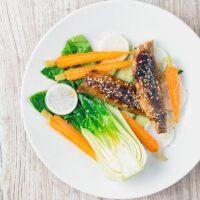 Teriyaki Smoked Mackerel Salad