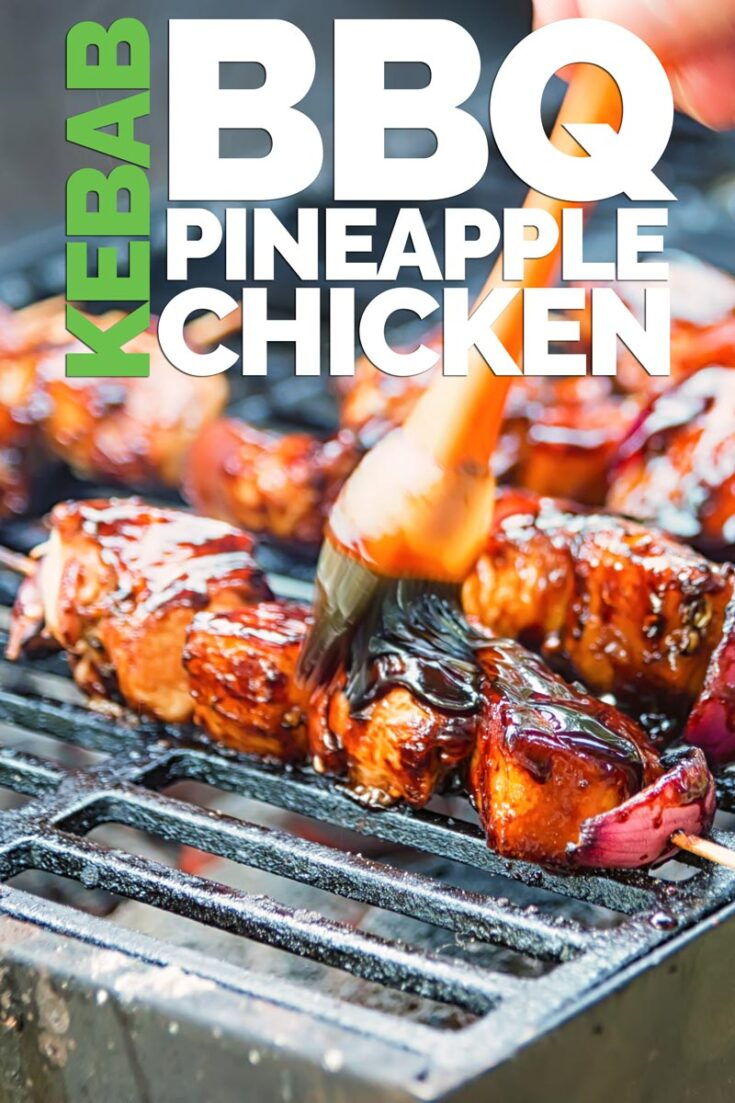 These pineapple chicken kebabs are simple BBQ fodder and are loaded with the sweet and sour flavours more commonly associated with a Chinese Takeaway! #bbq #grilling
