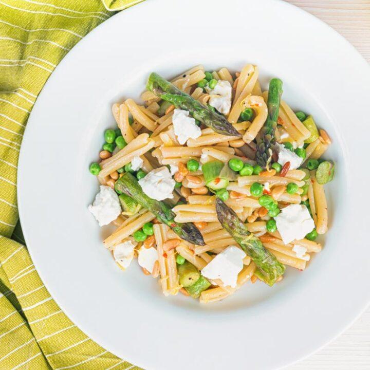 Asparagus and Pea Casarecce Pasta
