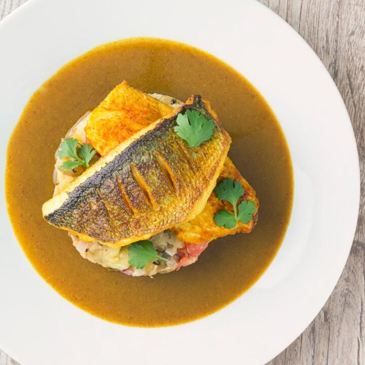 Sea Bream Fish Curry With Fenugreek Potatoes