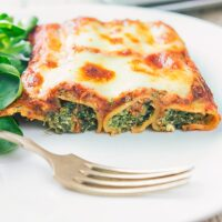 Goats Cheese and Spinach Cannelloni